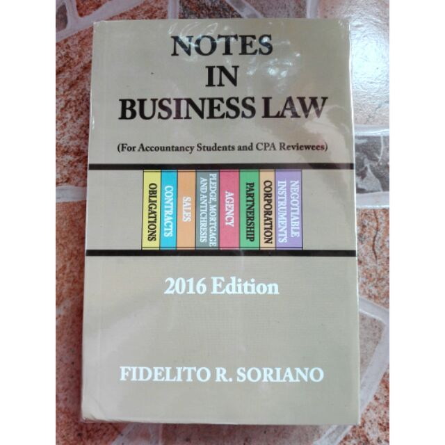 notes in business law by soriano free pdf
