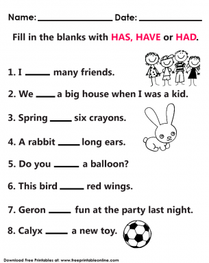 has and have worksheets for grade 1 pdf