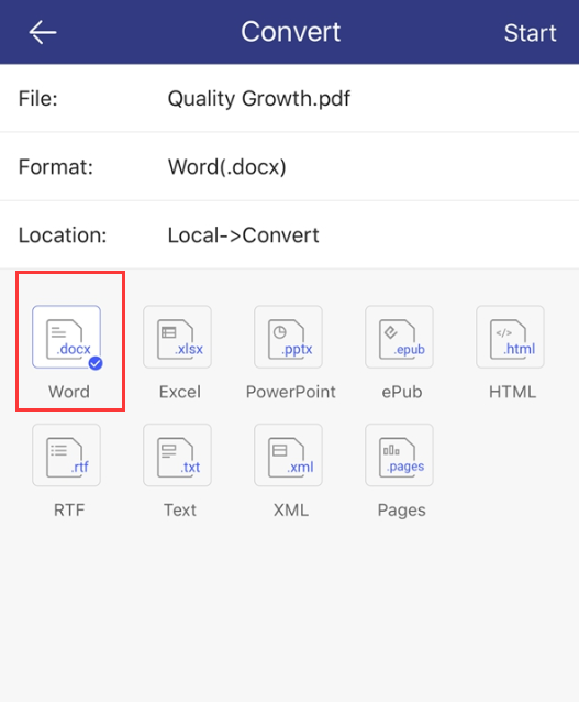 how to convert word to pdf on ipad